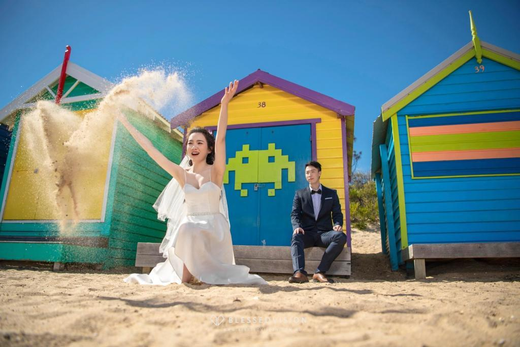 Brighton Bathing Boxes prewedding photography Melbourne wedding 悉尼 墨尔本 婚纱摄影 婚纱照 澳大利亚 澳洲旅拍 大洋路 -52146