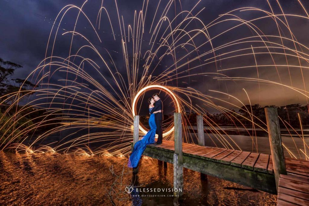 Night fireworks retro Prewedding Wedding Photography Melbourne Sydney Australia (1 of 5)